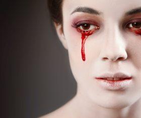 Girl scary makeup Stock Photo 13