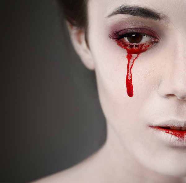 Girl scary makeup Stock Photo 14