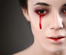 Girl scary makeup Stock Photo 15
