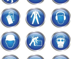 Glass textured safety icons
