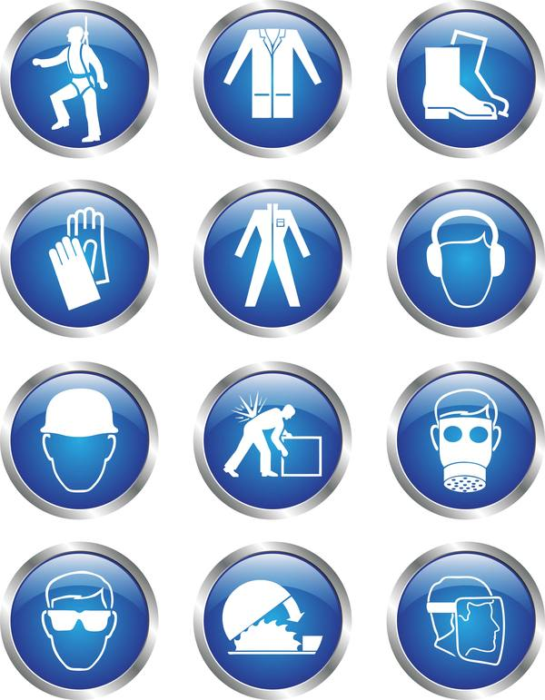 glass textured safety icons free download