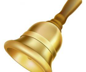 Golden bell vector illustration