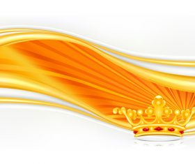 Golden crown with abstract background vector