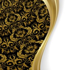 Golden decor with white background vector