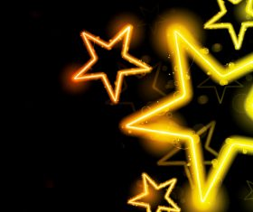 Golden shiny star background vectors