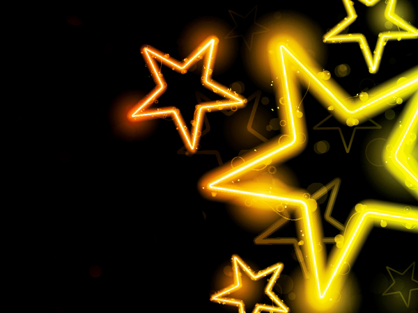 Golden shiny star background vectors