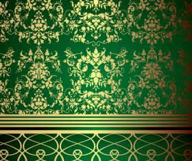 Green Classic Design Background vector