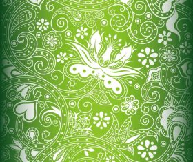 Green decor pattern design vector