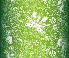 Green decor pattern design vector