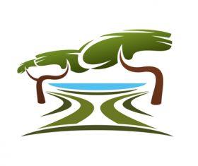 Green nature logos vector design 01