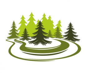 Green nature logos vector design 03