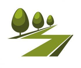 Green nature logos vector design 04