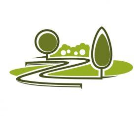 Green nature logos vector design 05