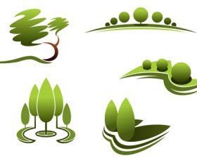 Green nature logos vector design 06
