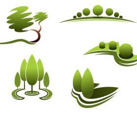Green nature logos vector design 06