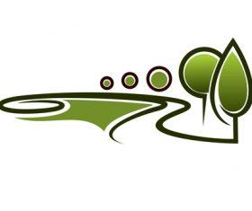 Green nature logos vector design 07