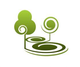 Green nature logos vector design 08