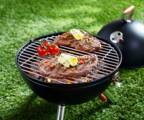 Grilled meat Stock Photo 03