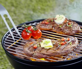 Grilled meat Stock Photo 04