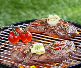 Grilled meat Stock Photo 05