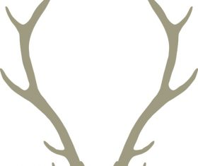 Hand drawn antlers vectors material