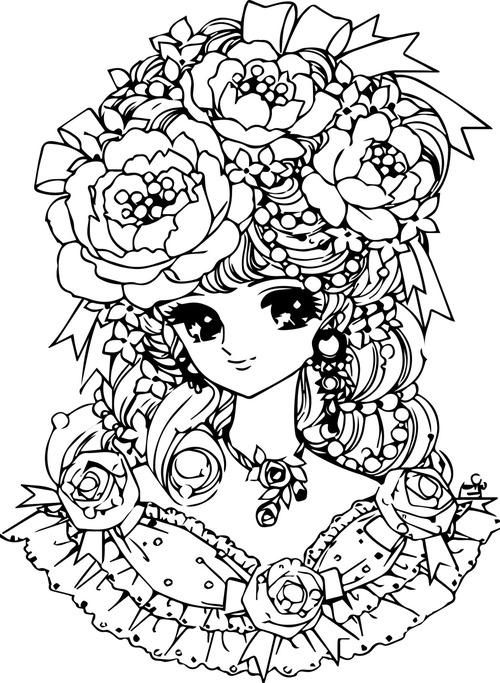 Hand drawn cartoon girl vector