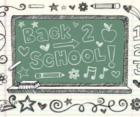 Hand drawn school elements vector design 06