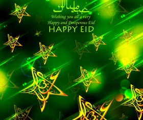 Happy and prosperous Eid mubarak background vector