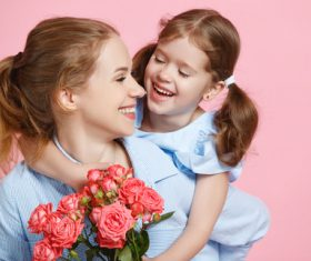 Happy mother and daughter Stock Photo 01