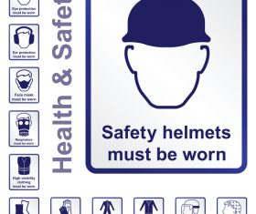 Health with safety icons