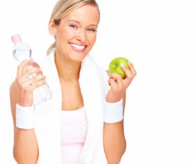 Healthy diet after exercise Stock Photo