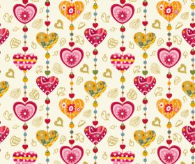 Heart decor seamless pattern vector 01
