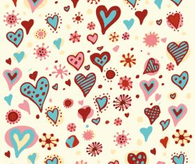 Heart decor seamless pattern vector 02