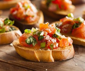 Home-made bruschetta Stock Photo 05