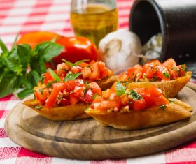 Home-made bruschetta Stock Photo 07