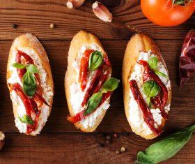 Home-made bruschetta Stock Photo 09