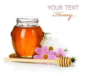 Honey in a jar with measuring tape decorated with flowers (5)