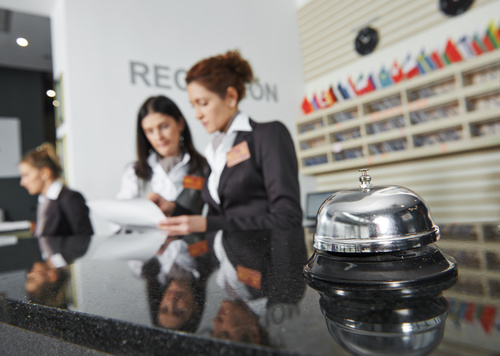 Hotel service bell close up Stock Photo 01