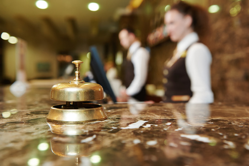 Hotel service bell close up Stock Photo 02