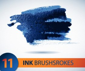 Ink brushsrokes illustration vectors set 01