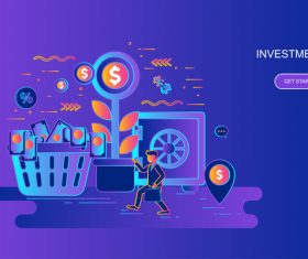Investment flat design concept vector