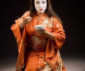 Japanese Geisha Stock Photo 04