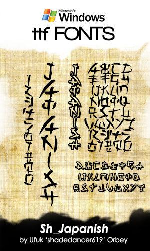 Japanish Windows Fonts