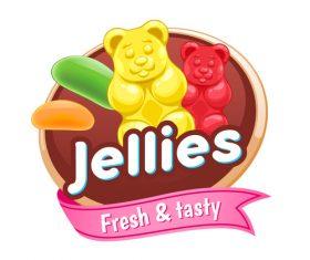 Jellies labels vectors