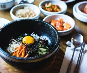 Korean cold noodles Stock Photo
