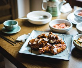 Korean fried chicken Stock Photo 01