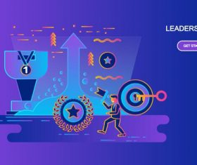 Leadership flat design concept vector