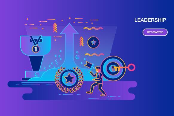 Leadership flat design concept vector