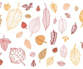 Leaves autumn illustration vector set