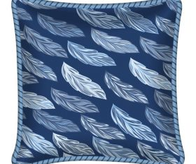 Leaves pattern pillow template vector 02